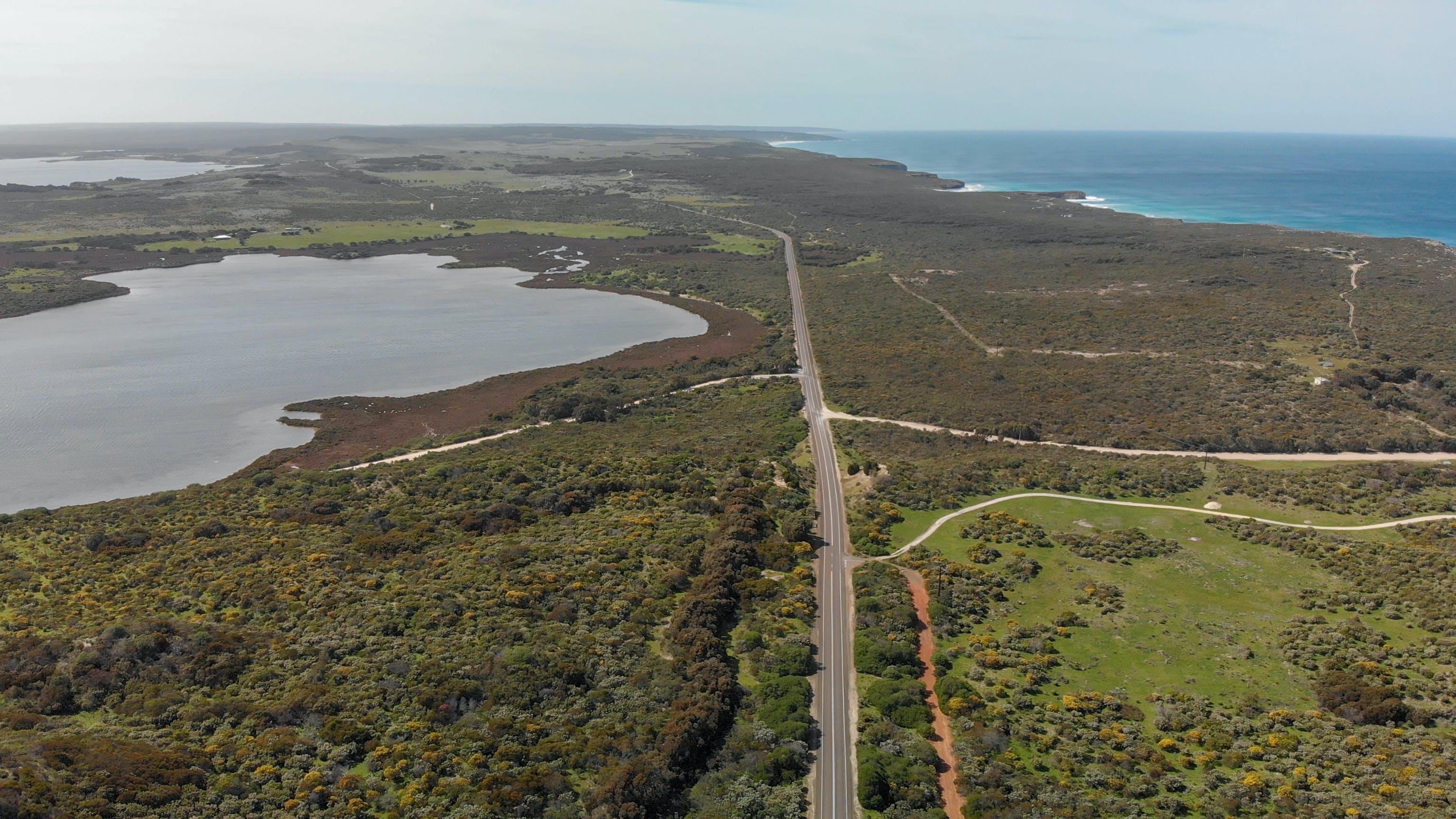 View looking east over Pelican Lagoon