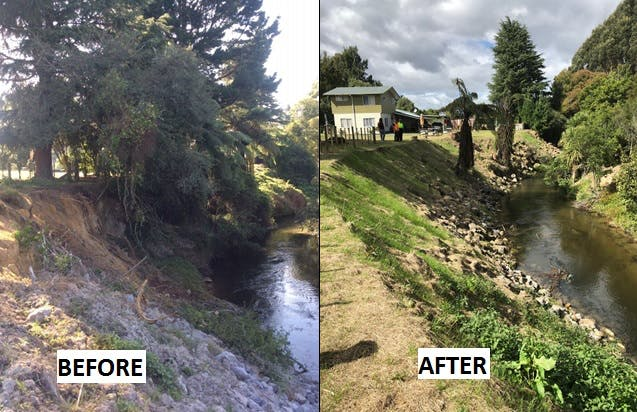 Erosion And Vegetation Blockages Removed Western Road