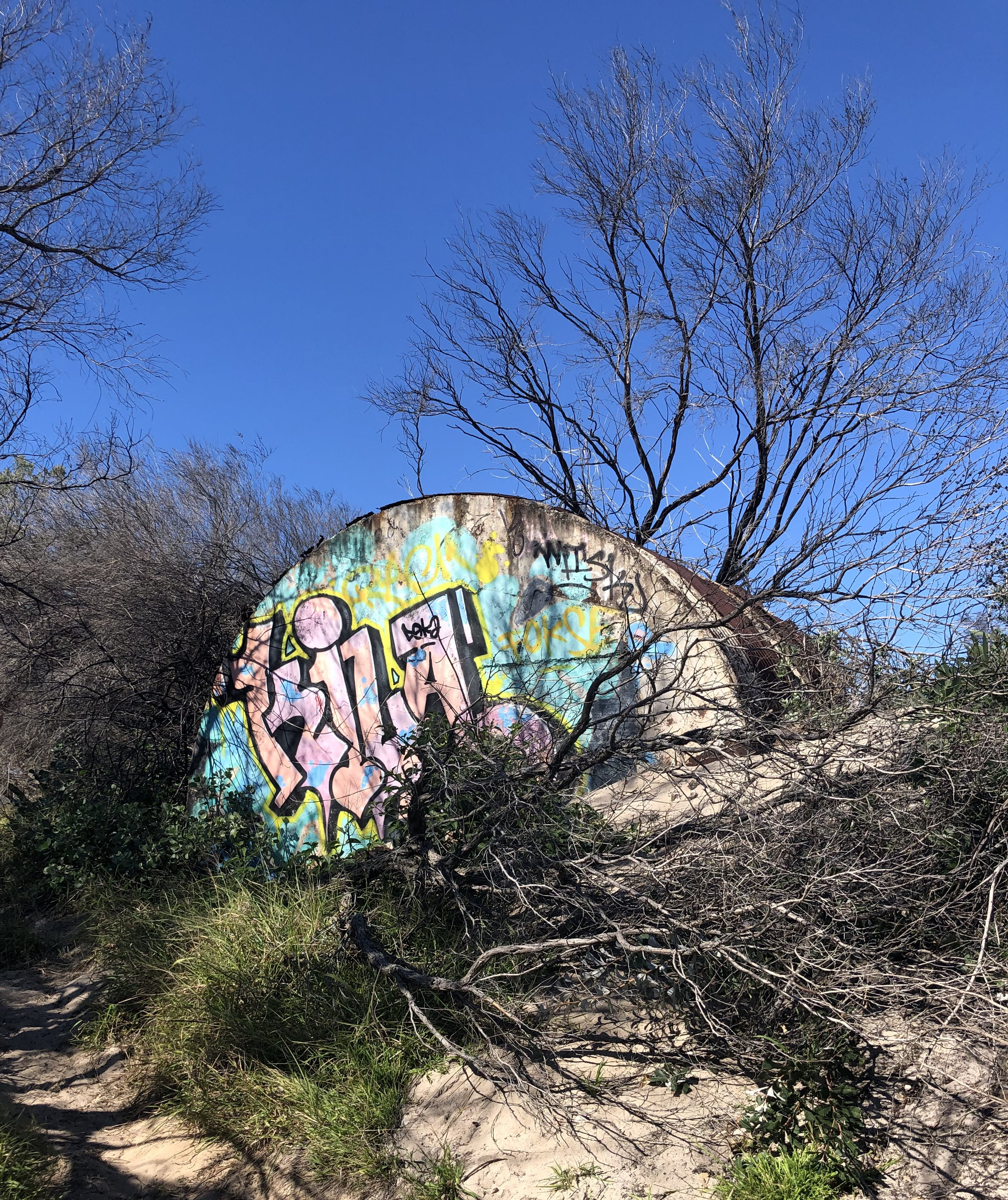 Graffiti during illegal access to area.jpg