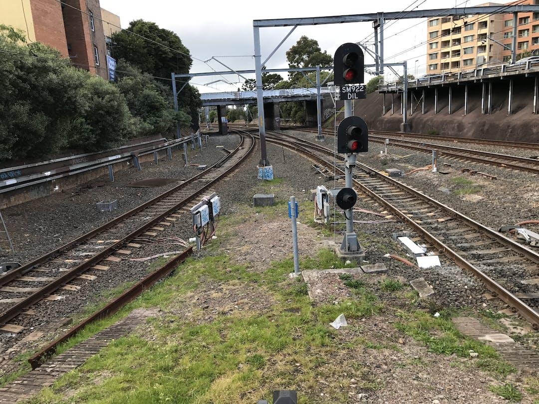Image of railway tracks near Hurstville Station