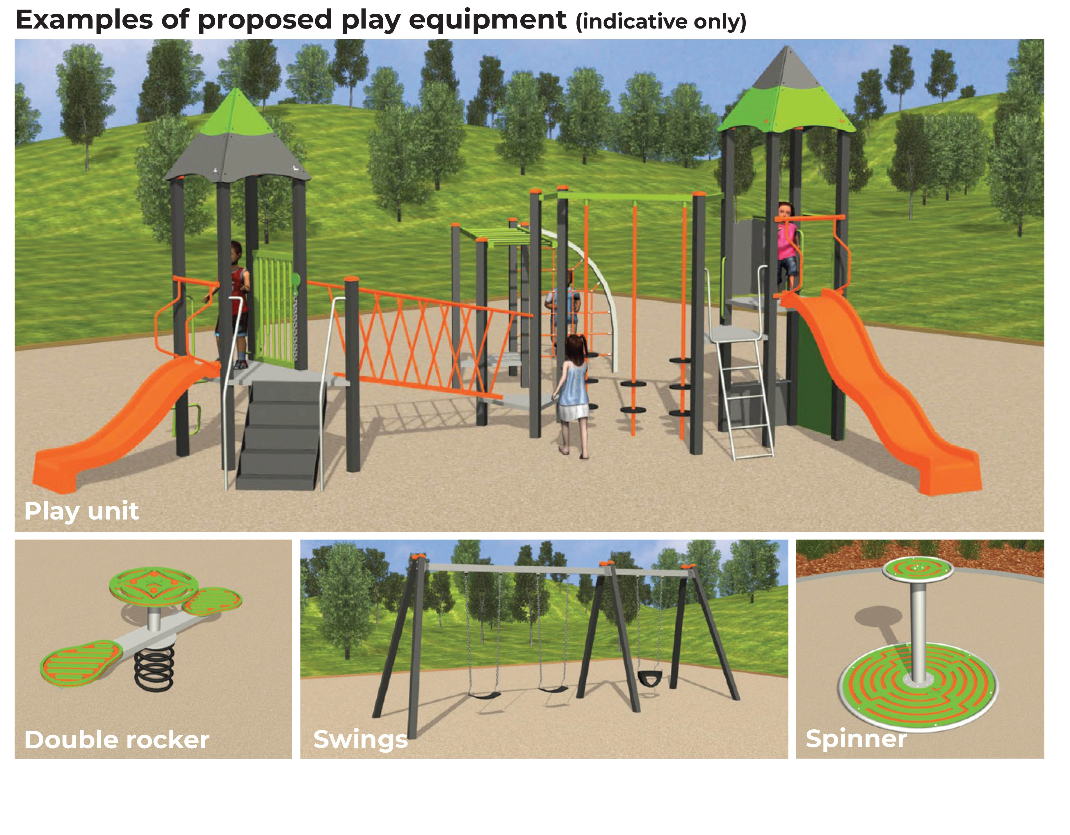 Rudstone Bend Reserve - Proposed Play Equipment