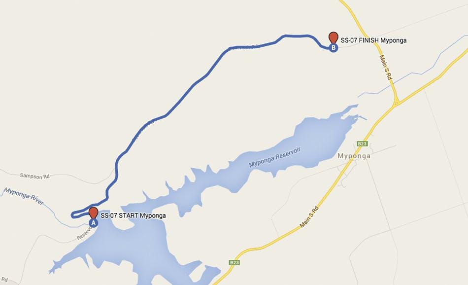 Proposed Myponga Reservoir road closure map