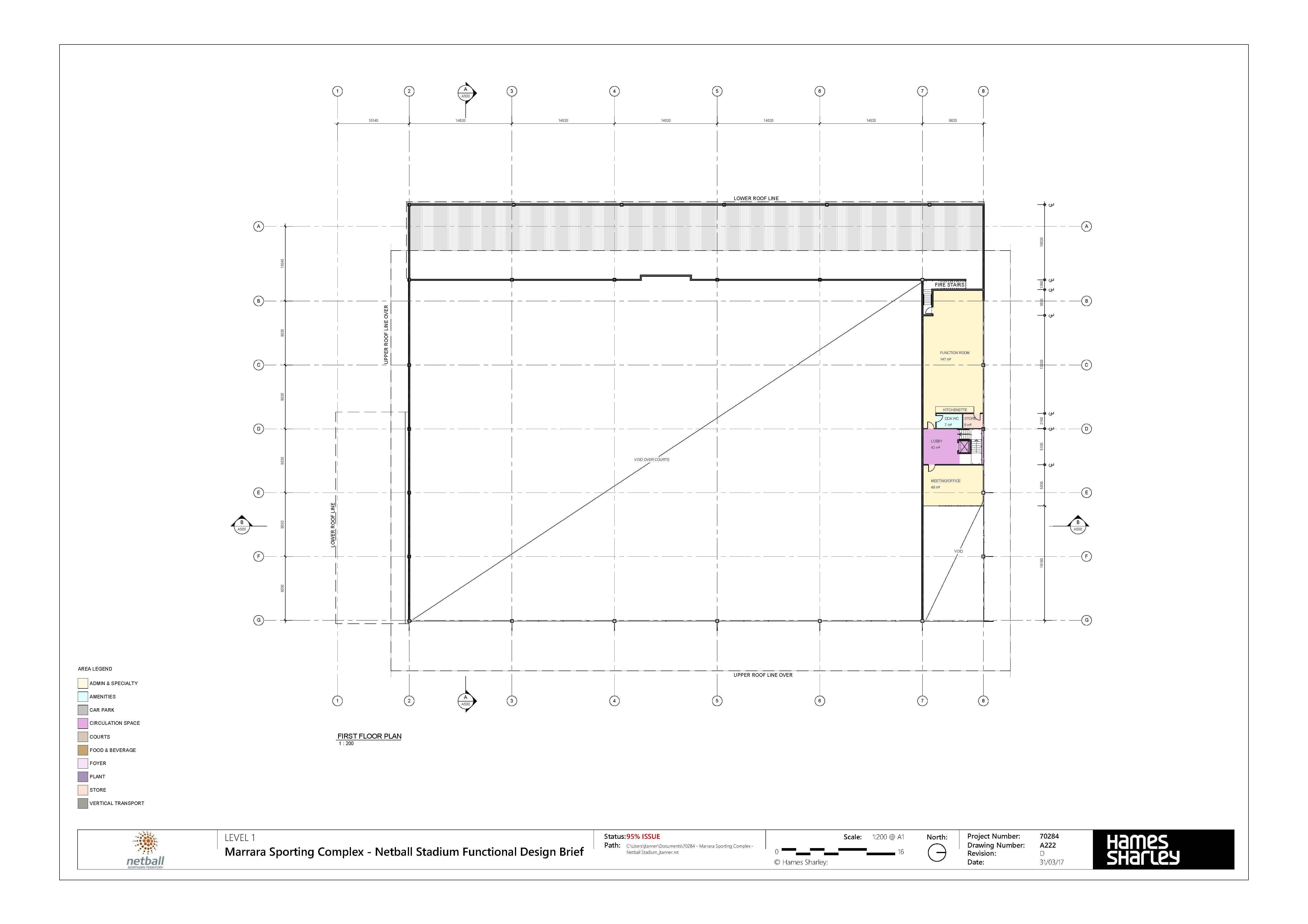 Marrara Netball Centre Drawing 05