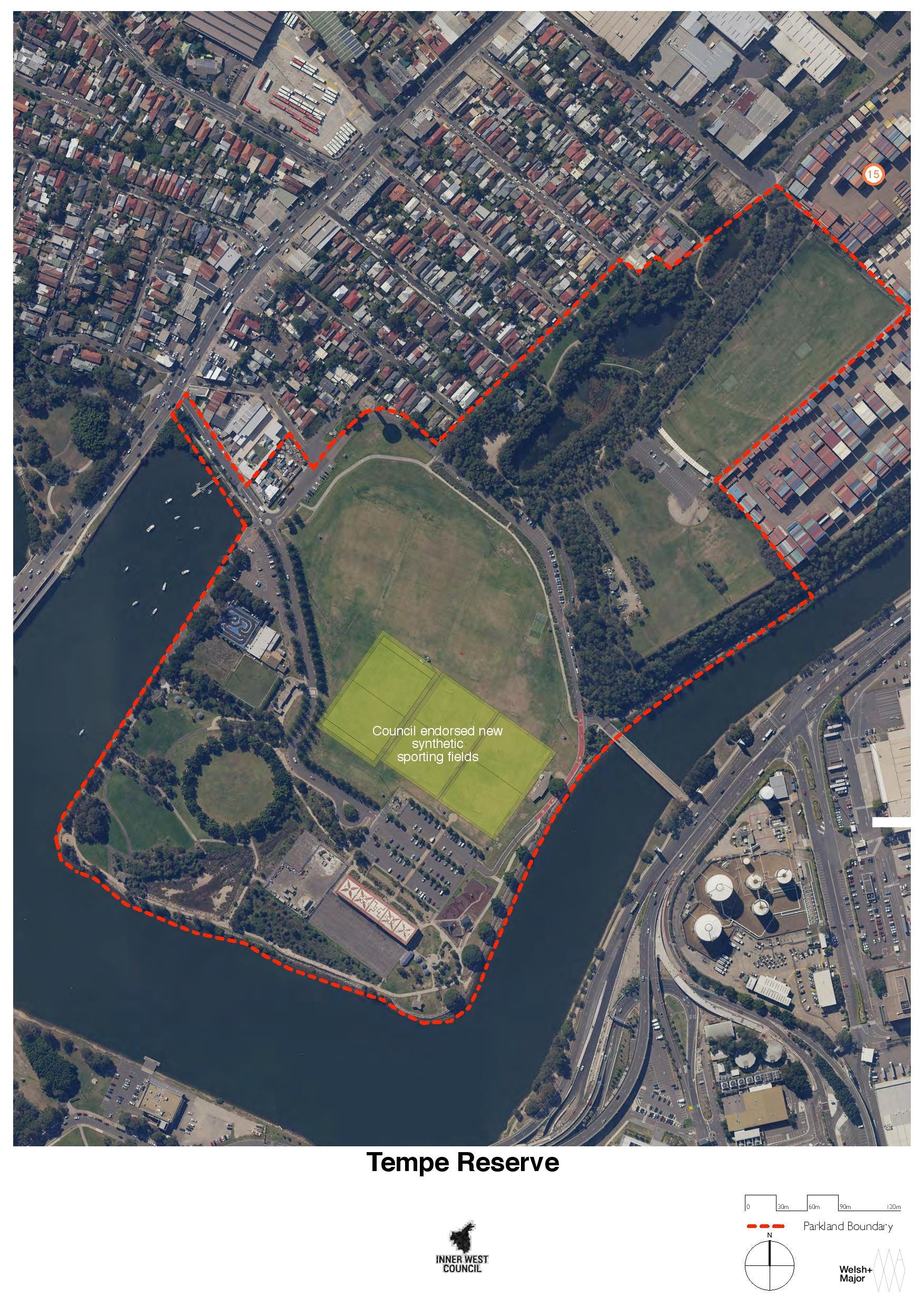 Tempe Reserve map