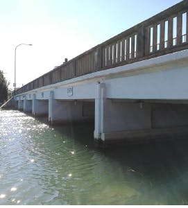 Current Pittwater Road Bridge at Narrabeen Lagoon