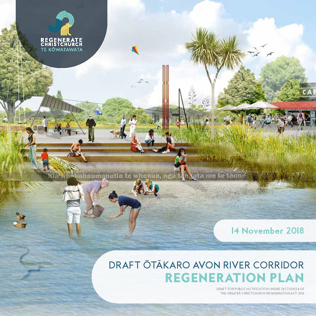 The front cover of the draft Regeneration Plan