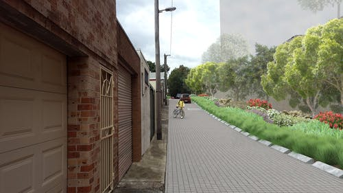 Revised design for Portman Lane  - Photomontage