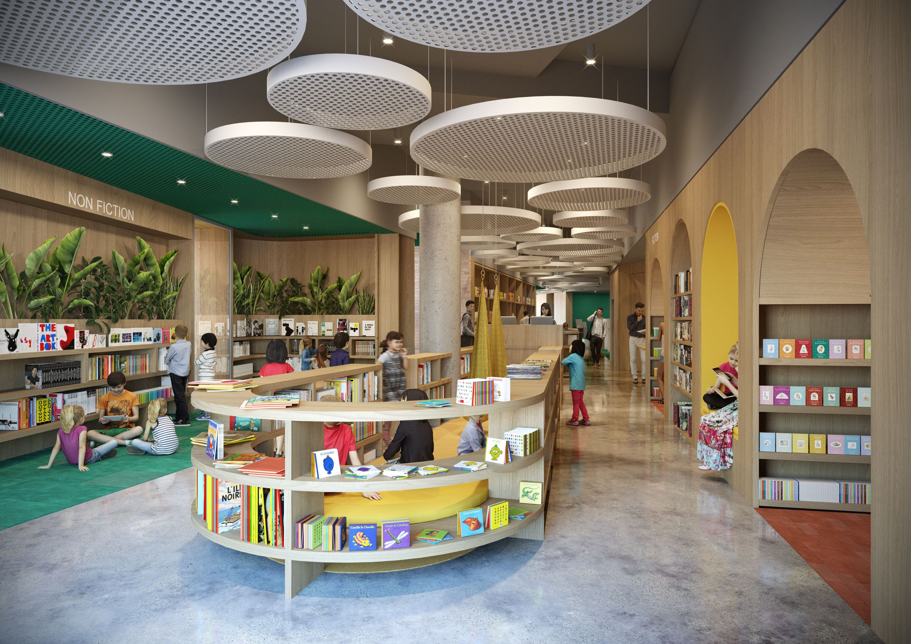 Cultural & Civic Space - New Central Library, Museum, Gallery and council administration offices, Council meeting space and customer service facilities