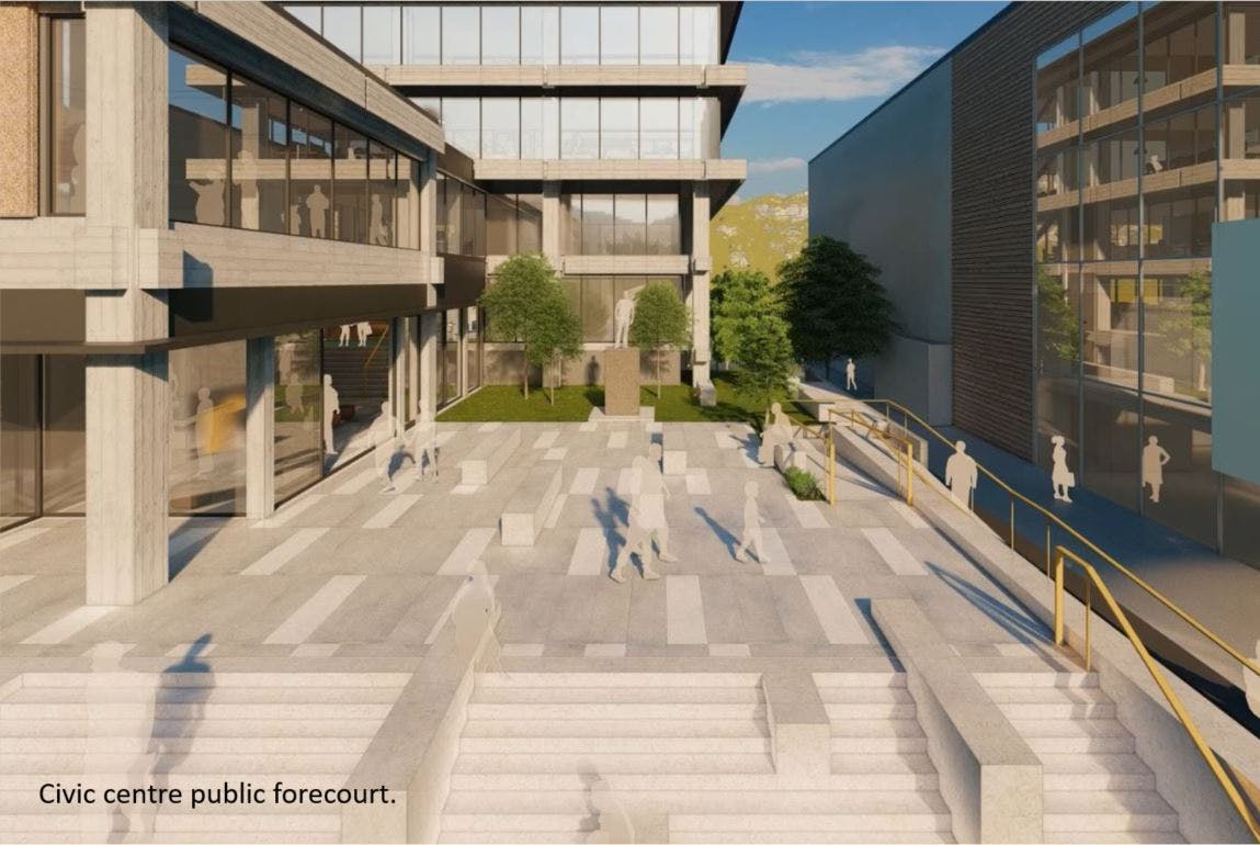 Artists impression of Civic Forecourt