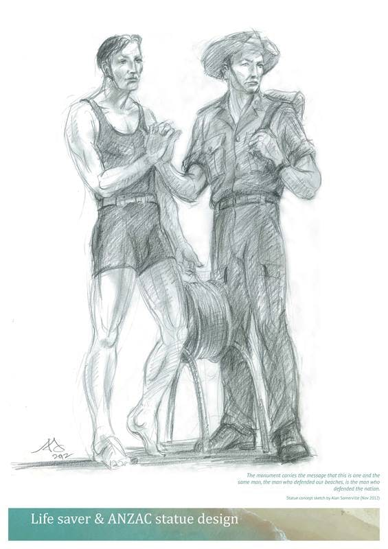 Concept sketch for sculpture
