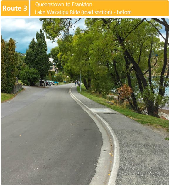 Route 3: Queenstown to Frankton (Lake Wakatipu Ride road section) - BEFORE