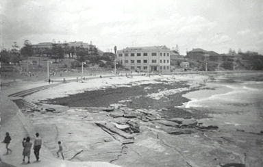 Cronulla Beach after storm (1948)