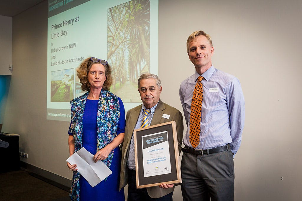 commendation award – landscape and urban projects category – Prince Henry at Little Bay by UrbanGrowth NSW and Ladd Hudson Architects.
