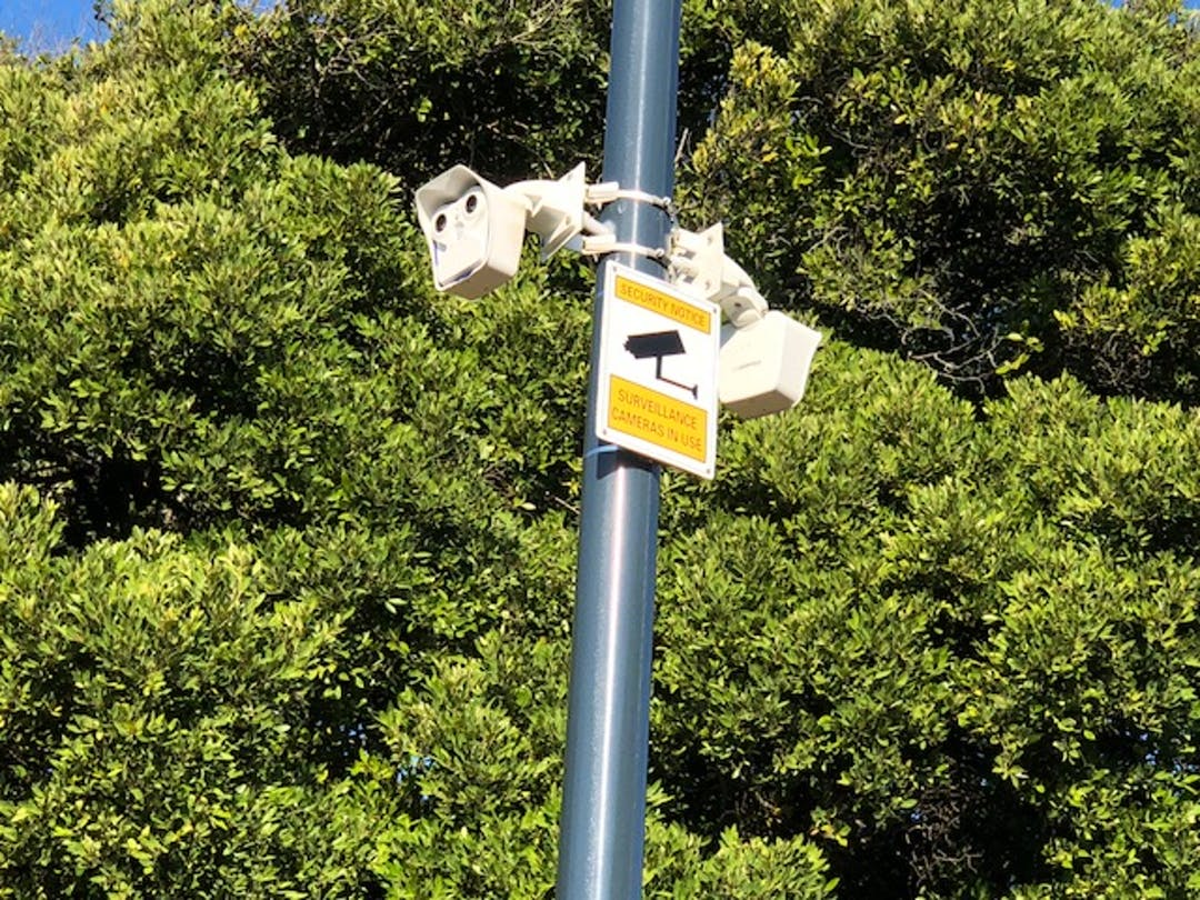 Park beach cctv and lights