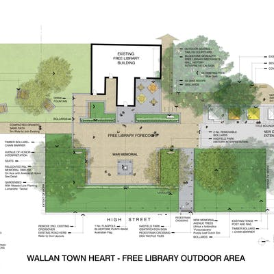 Wallan Town Heart Free Library Detailed
