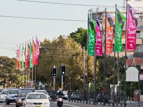 Some Randwick City street banners