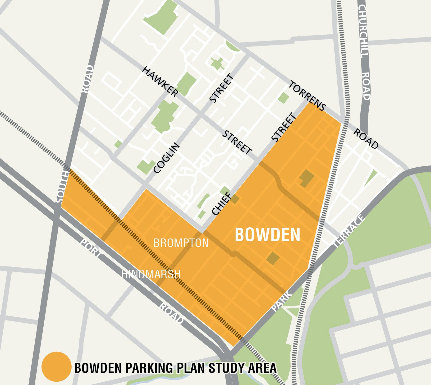 Bowden Locality Map