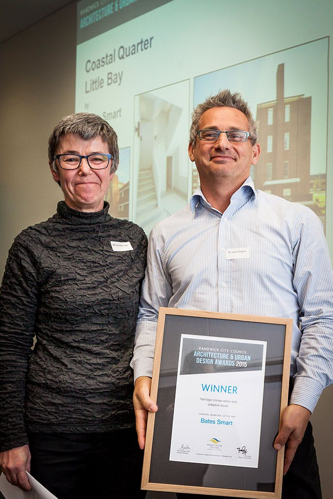 winner of heritage conservation and adaptive reuse category – Coastal Quarter, Little Bay by Bates Smart