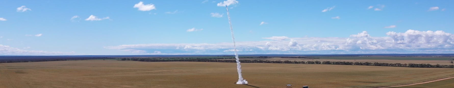 Rocket taking off from country South Australia