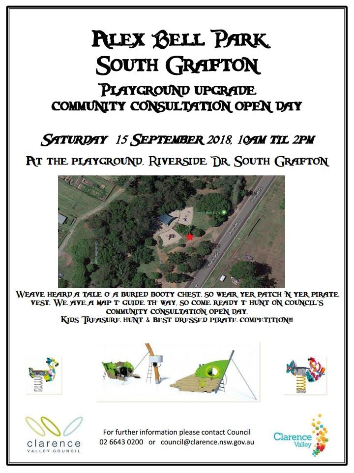 Alex Bell Playground Upgrade Community Consultation Open poster_Rev