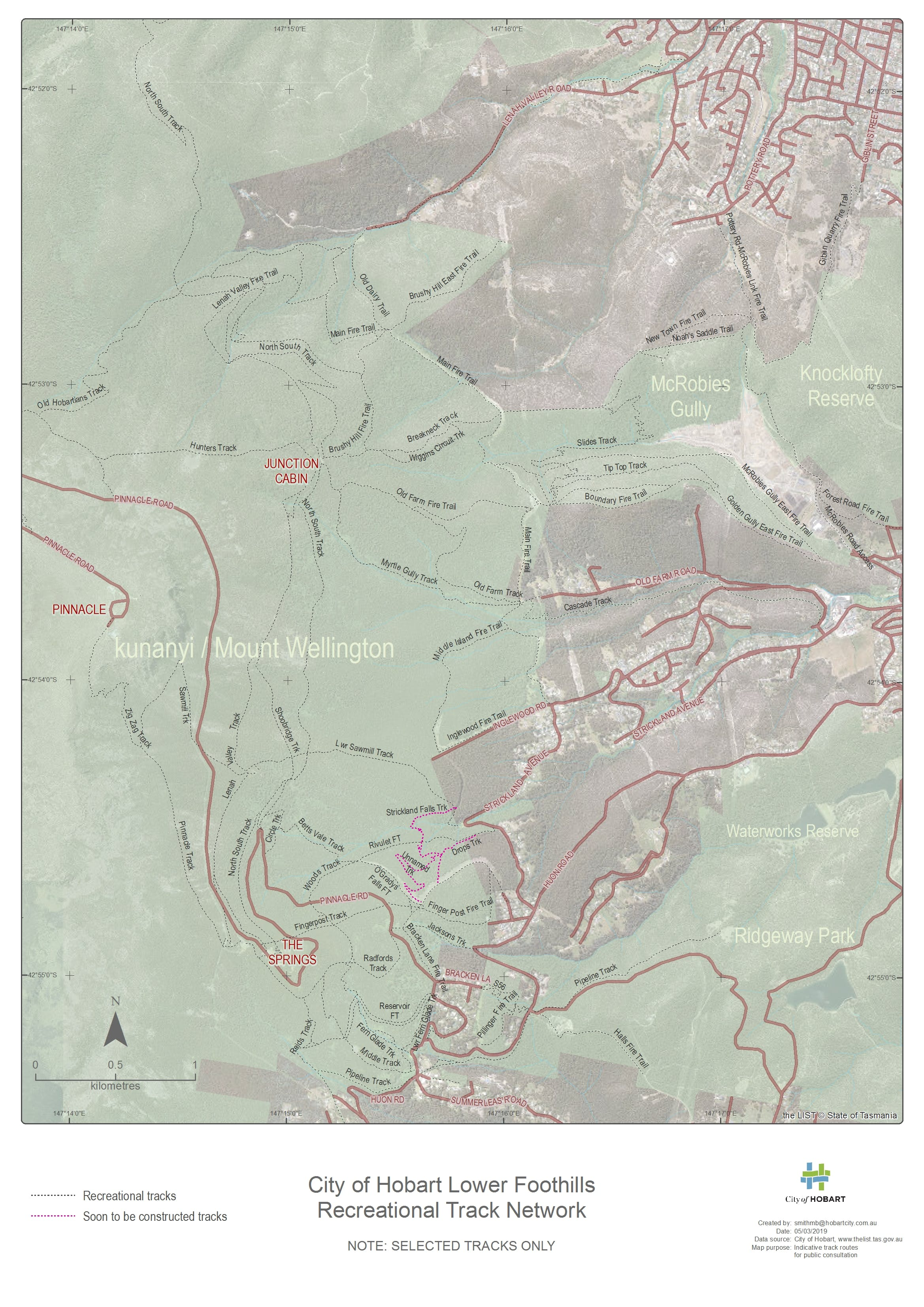 Mountain Bike Network Map