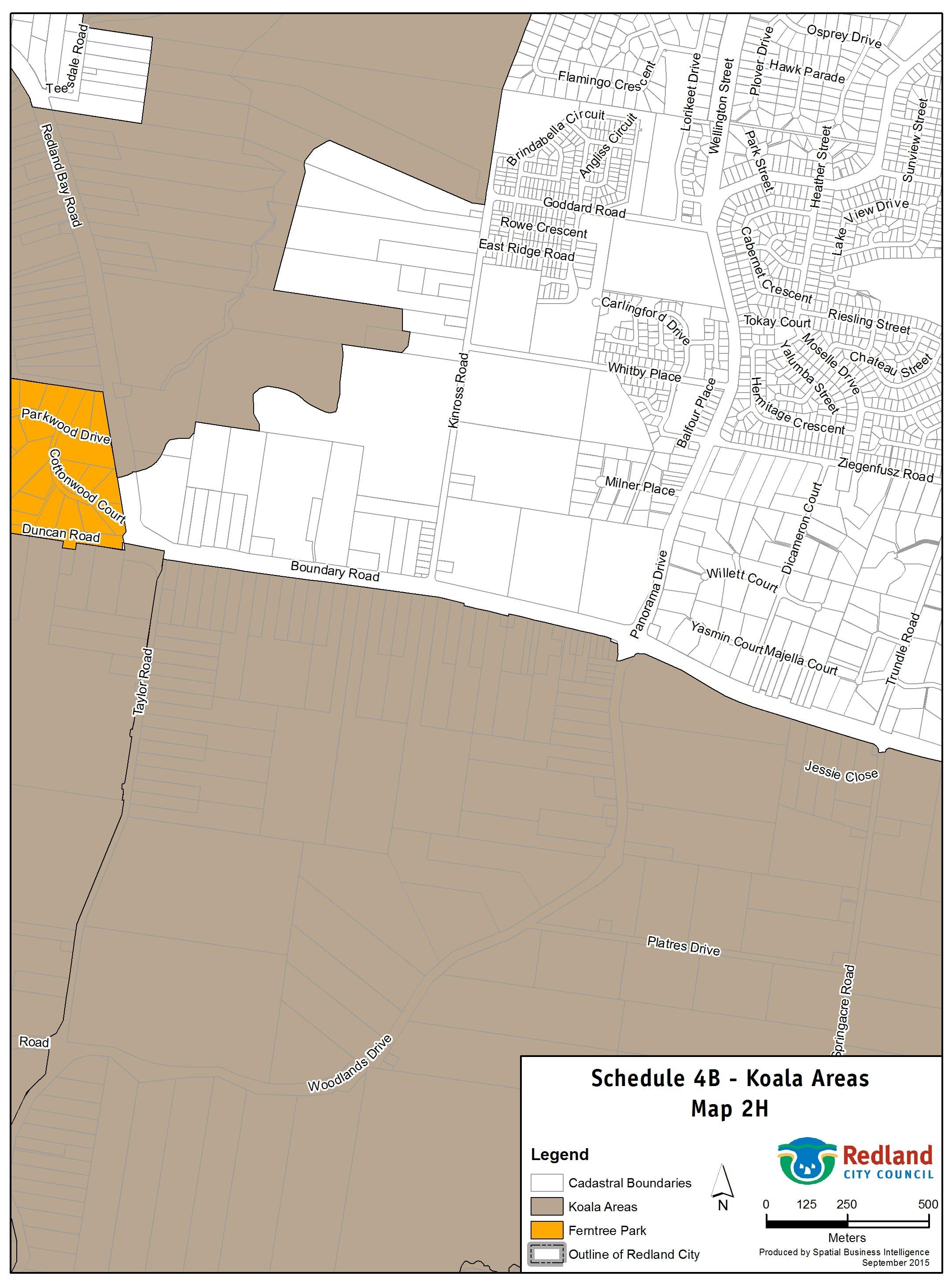 Koala Areas - Map 2H