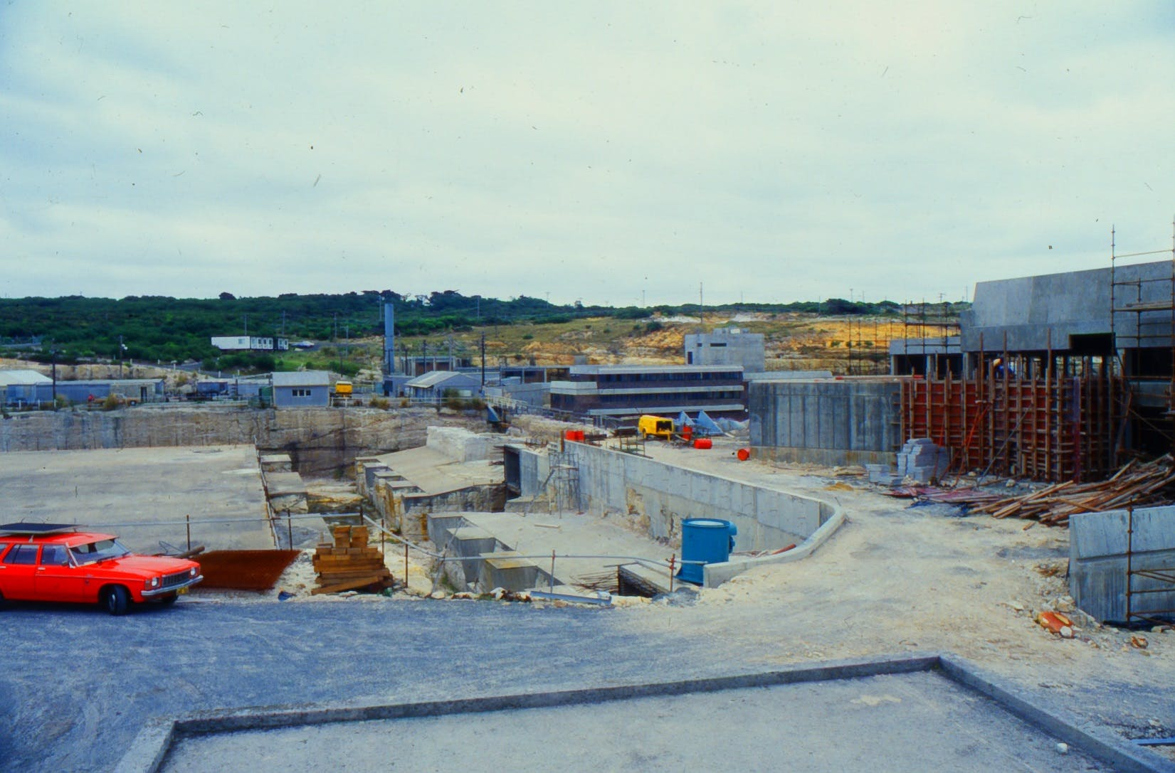 Foundations of buildings at North Head WWTP
