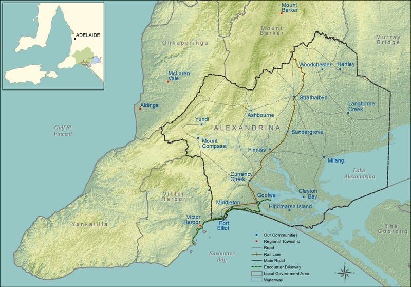 Map - Alexandrina Council 'Connecting Communities'
