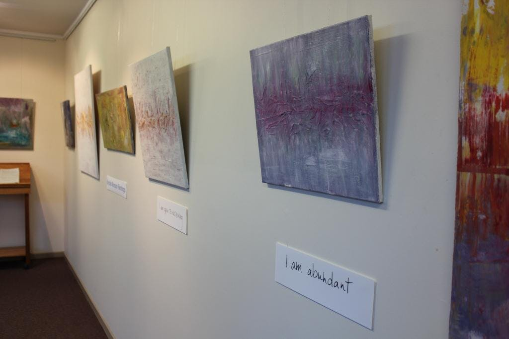 Bridie's Exhibition - WSC foyer gallery