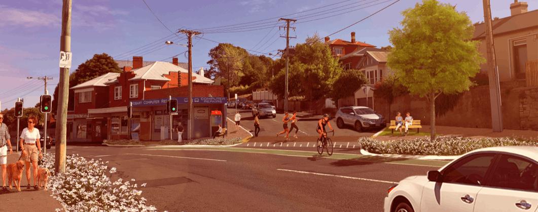 Artists Impression - New Town Road near Pirie Street