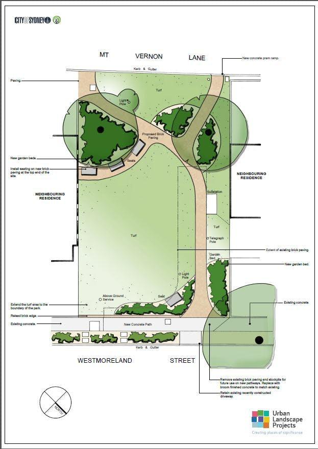 Mitchell St Closure   Landscape Plan For Public Review
