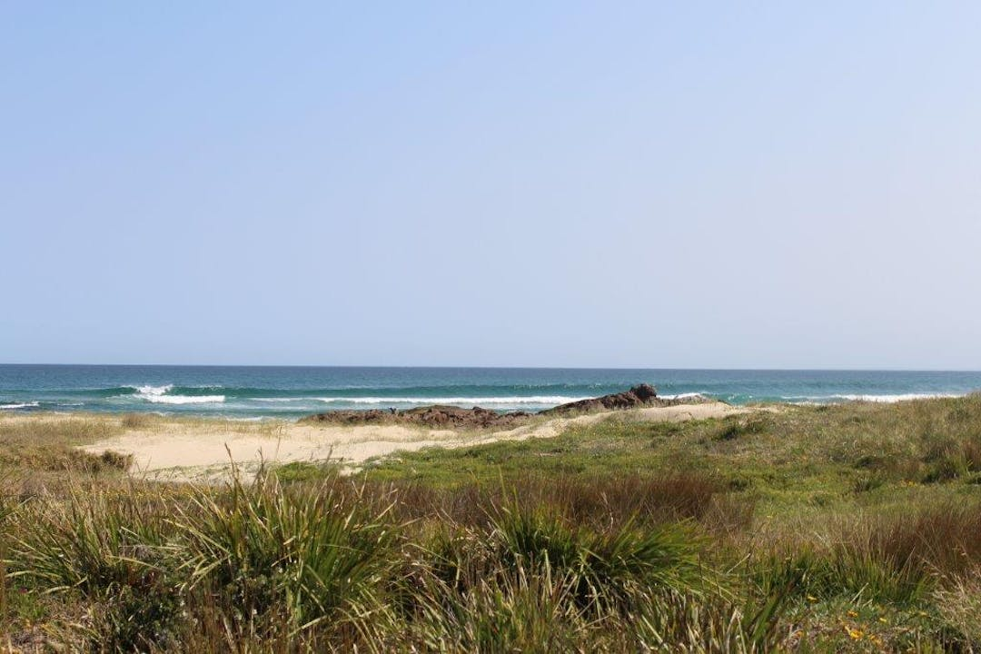 View of the ocean from Robinson Reserve, Anna Bay