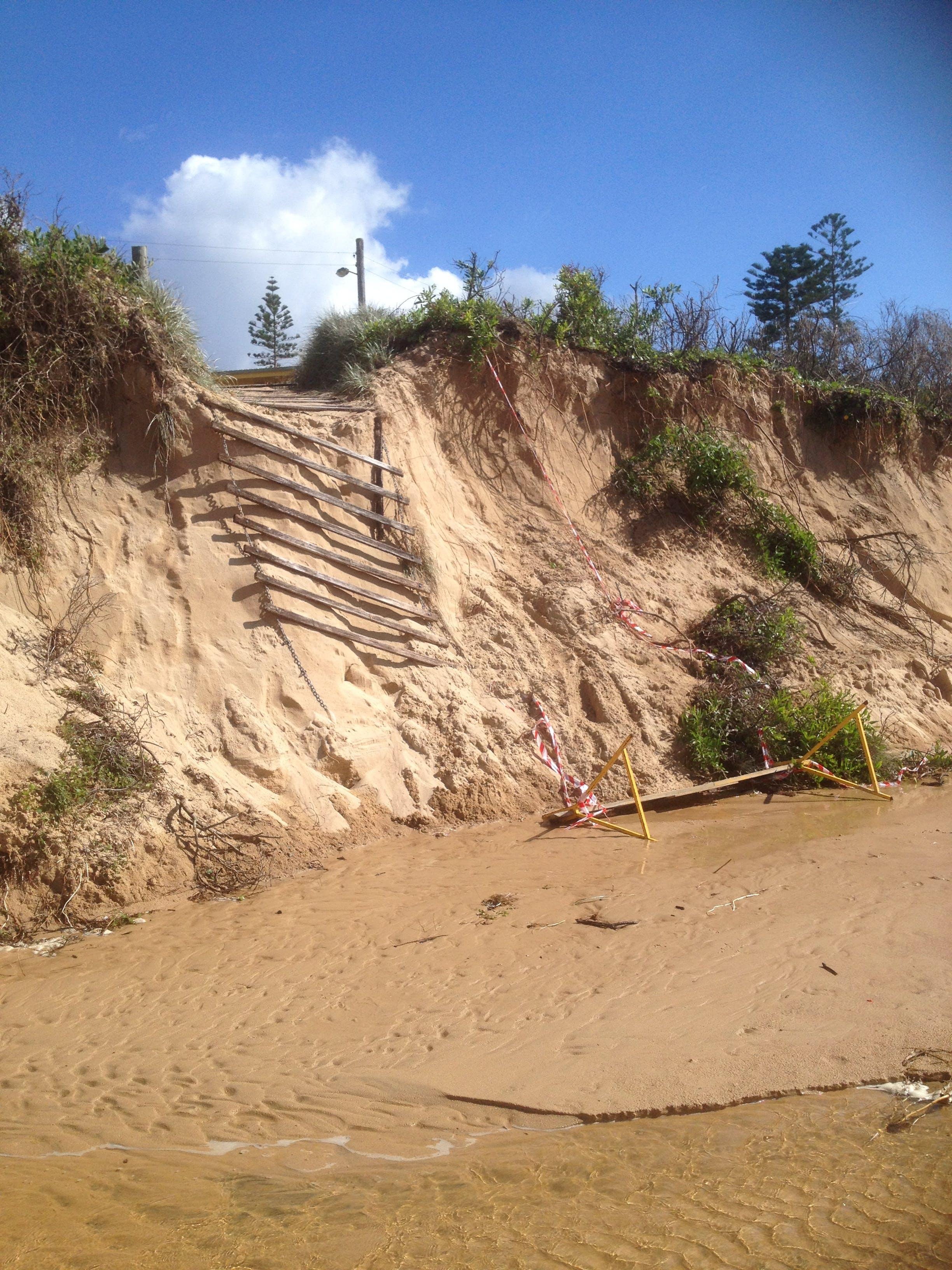 Dune Erosion From Creek Breakout