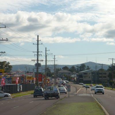 Traffic flowing along Main Road