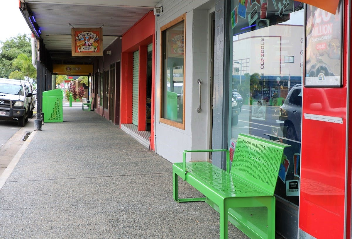 Main Street footpaths and furniture.JPG