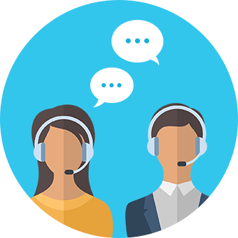 Icon outbound call center