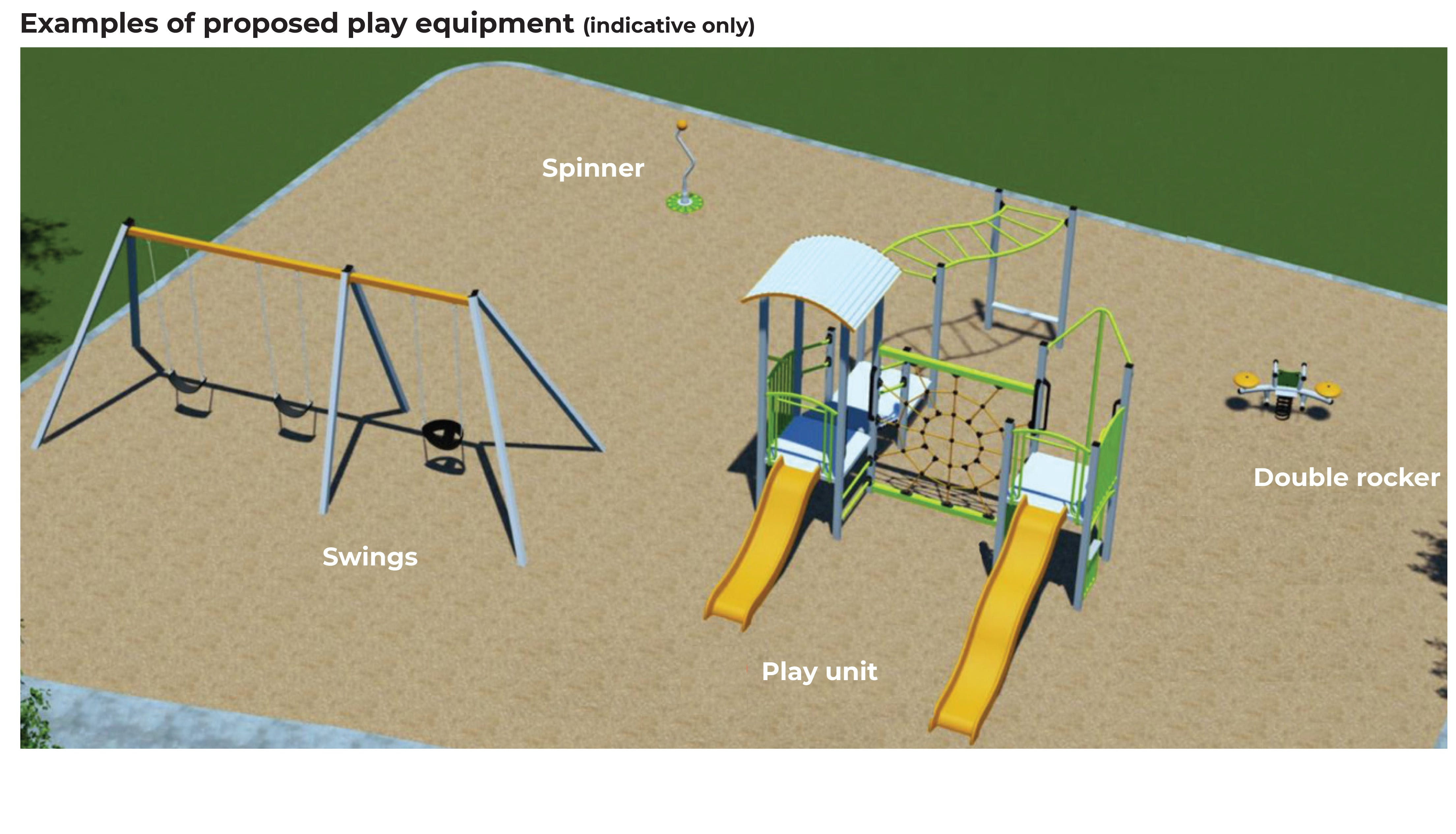 Logan Court Reserve - Proposed Play Equipment