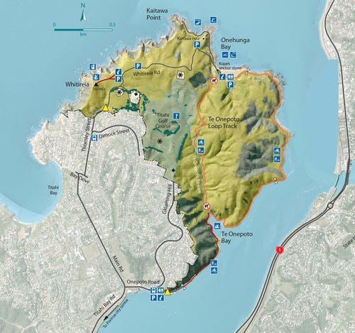 Whitireia Park Map
