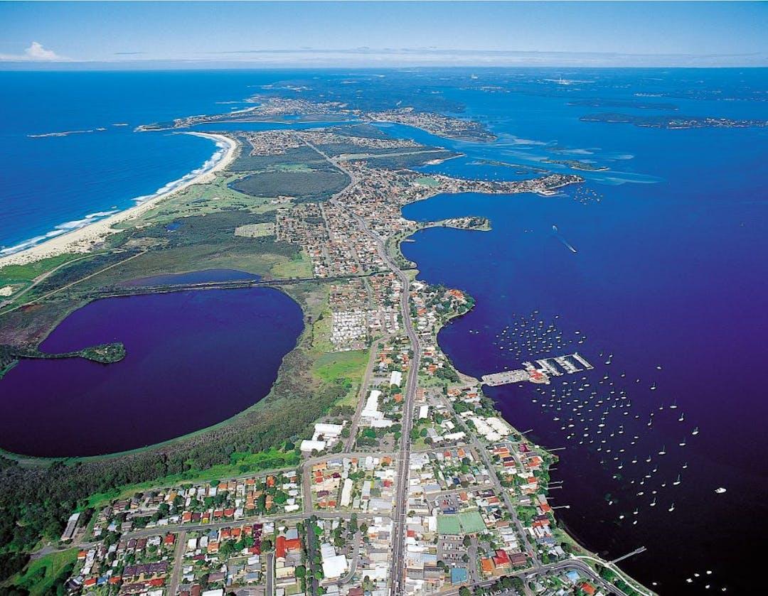 Lake aerial image