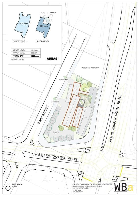 Site plan for the Casey Community Resource Centre