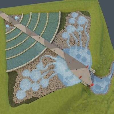 Overhead shot of the proposed Water Restoration Land Contact Bed