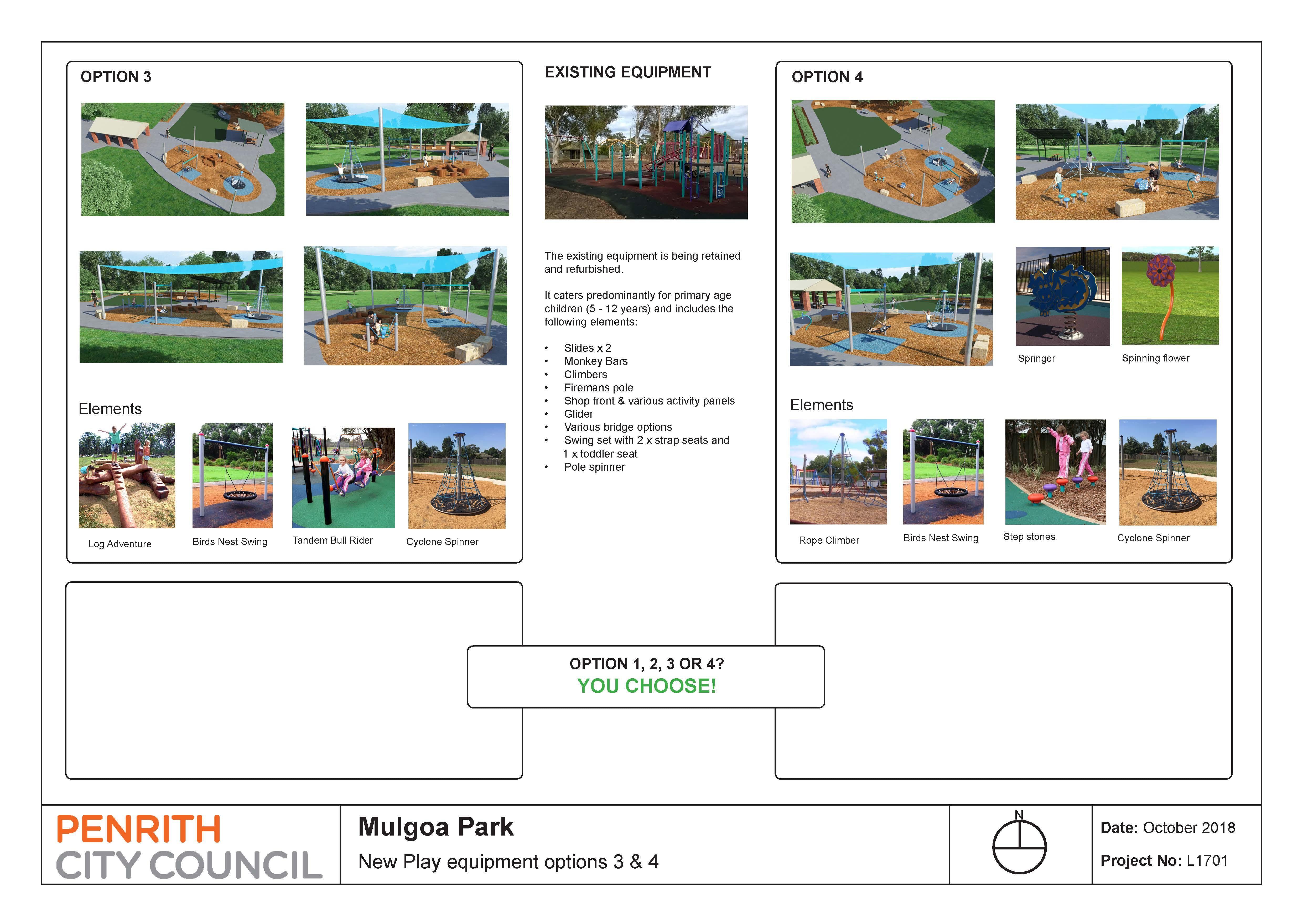Mulgoa Park Playground Options 3 And 4