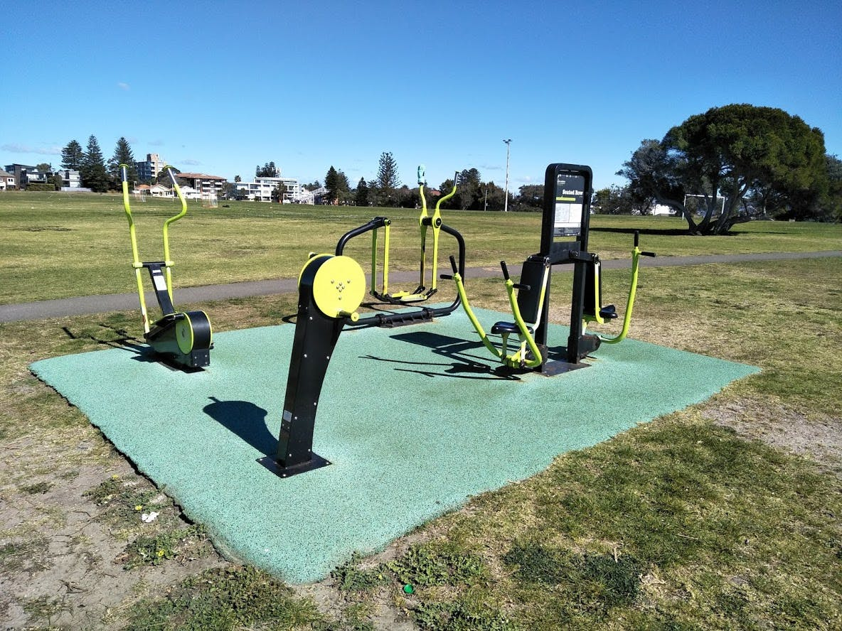 Christison Park: outdoor fitness station