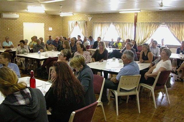 A great crowd attended the afternoon forum