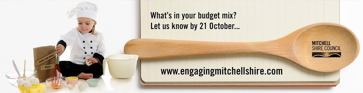 Girl cooking with text - what's in you'r budget mix? Let us know by 21 October.