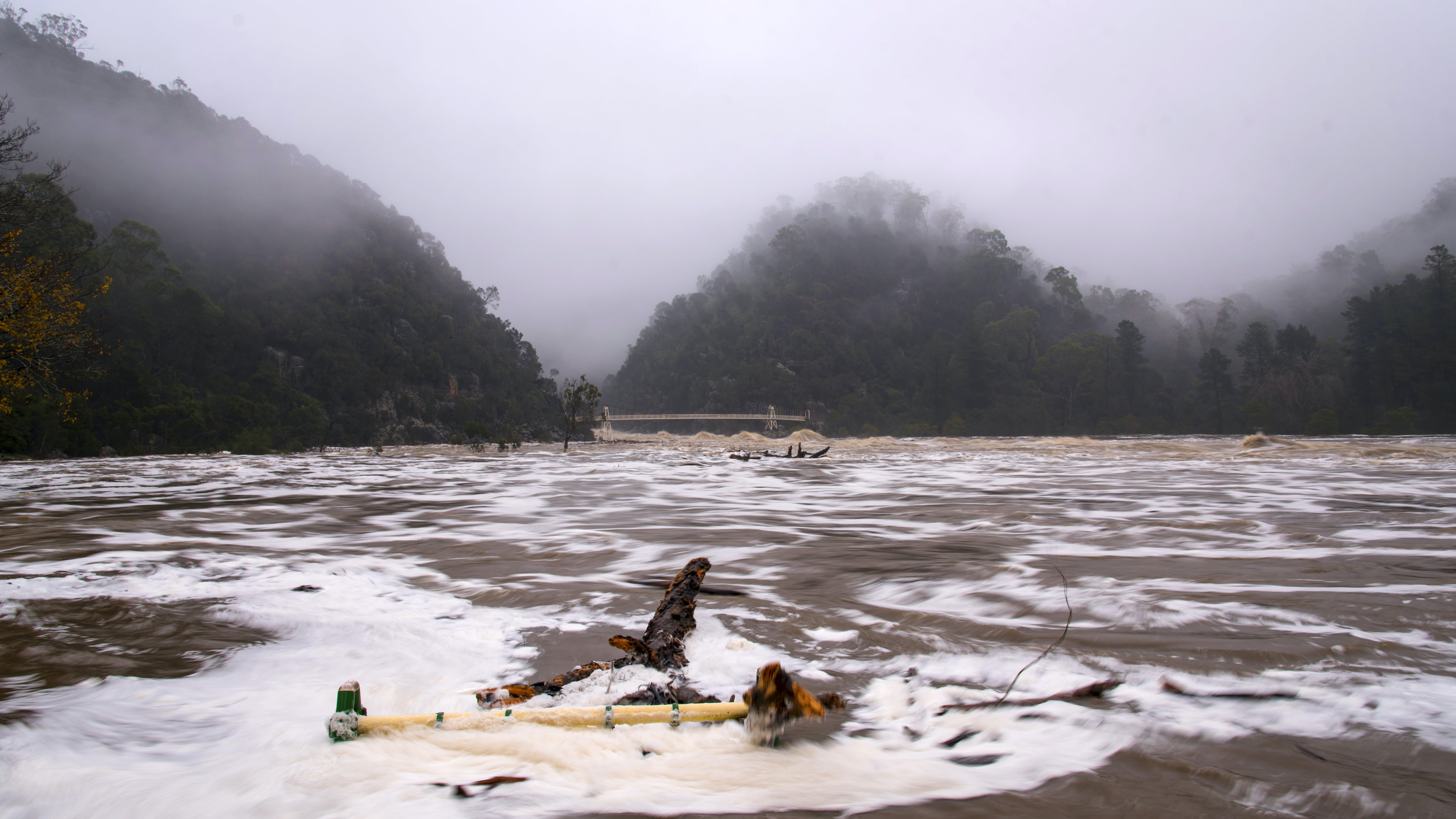 Flooding in the Cataract Gorge