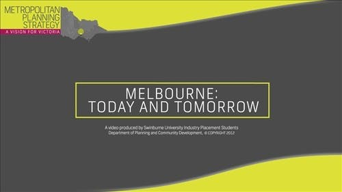 Melbourne Today and Tomorrow