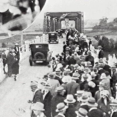 Opening of the Logan River Bridge (Red Bridge)