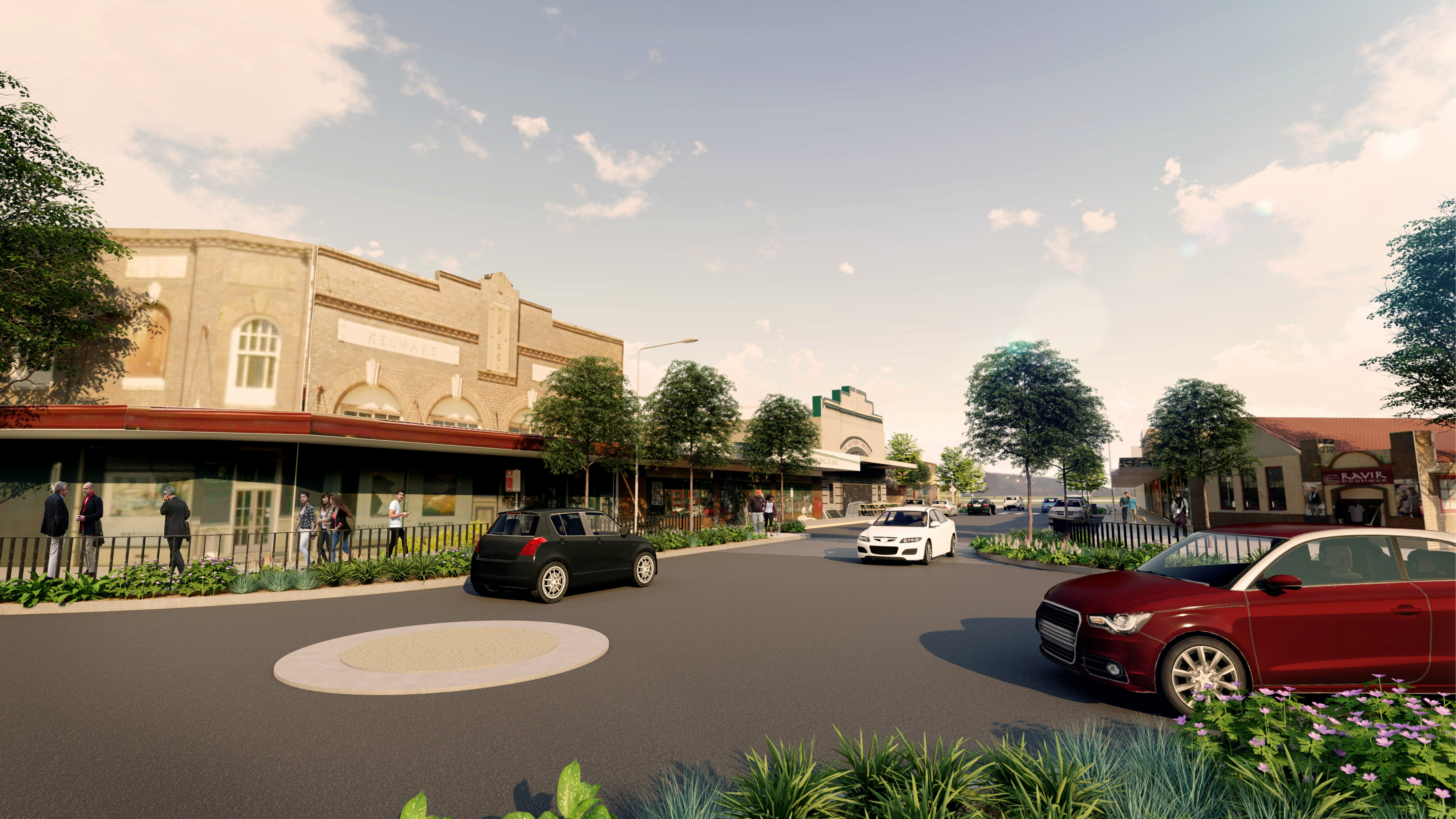 Proposed roundabout on Wentworth and Govetts Leap Rd