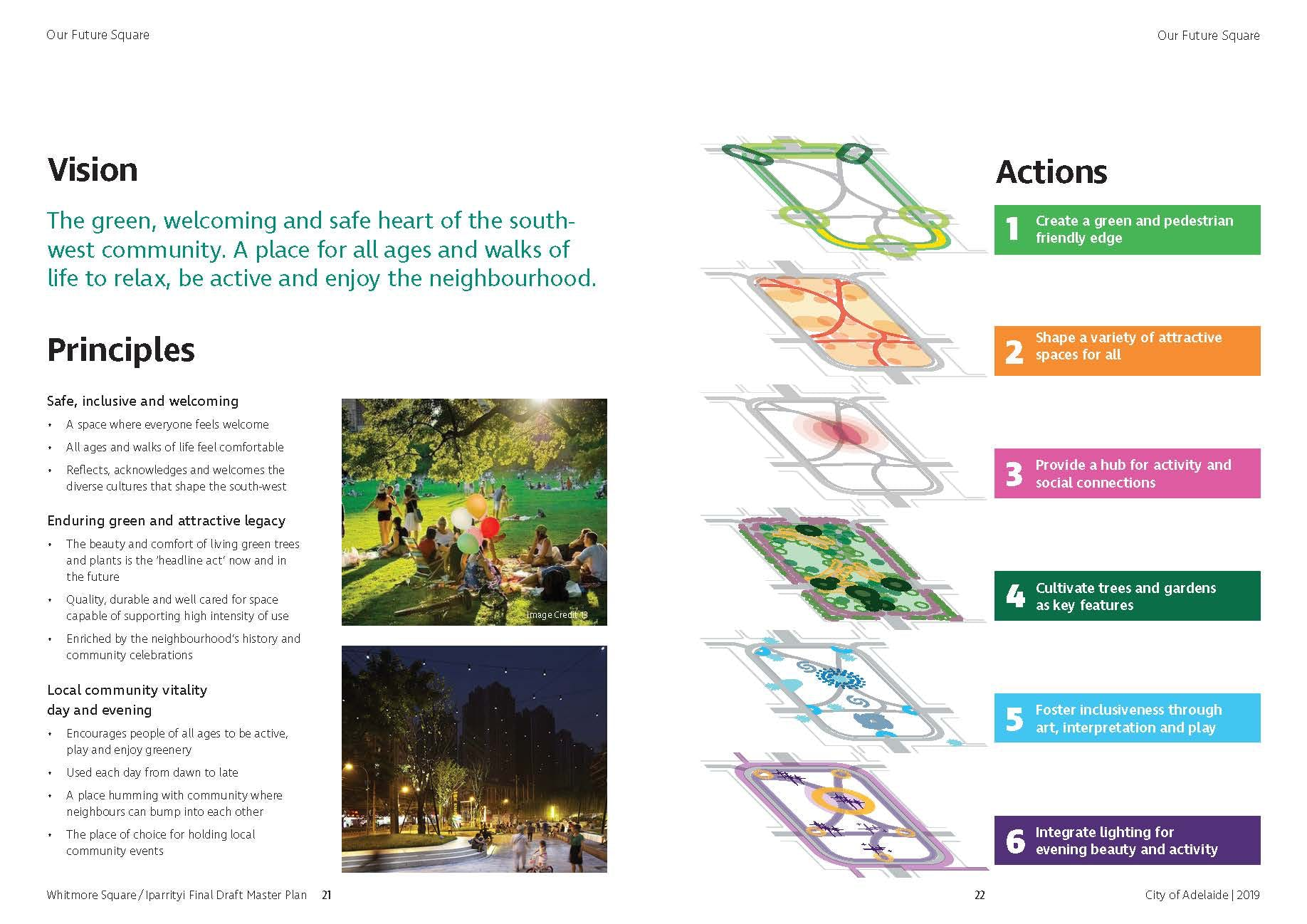 Vision, Principles and Actions summary